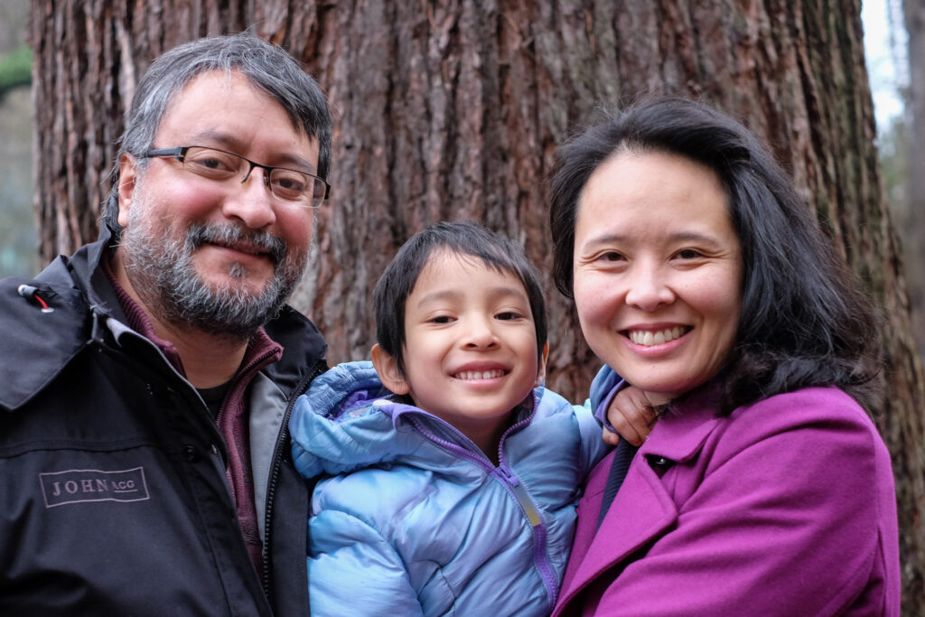 Khanh's family (left to right: Hector, Maya, and Khanh)